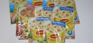 Из чего состоят супы в пакетах