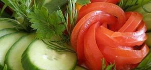 Как красиво нарезать овощи и фрукты на новогодний стол