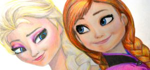 Как нарисовать Эльзу и Анну из