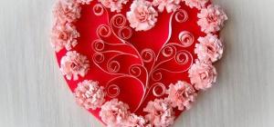 Как сделать объемную валентинку на 14 февраля