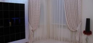 Оформление окон шторами