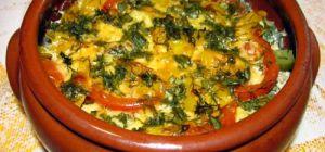 Горшочки с овощами и охотничьими колбасками