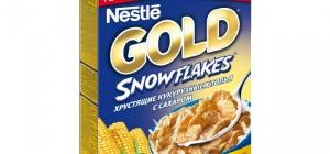 Готовые завтраки Nestle Хлопья Gold