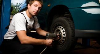 Как снять колесо