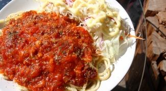 Как приготовить спагетти болоньез