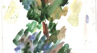 Как рисовать деревья акварелью