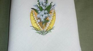 Как вышить салфетку