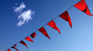 Как вешать флаги