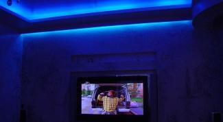 Как сделать потолок с неоновой подсветкой