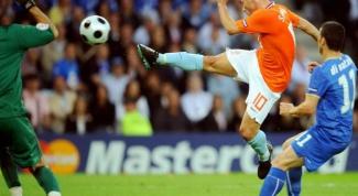 Как поставить удар в футболе