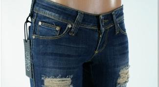 Как обновить старые джинсы