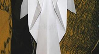 Как сделать ангела оригами