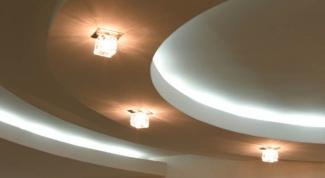 Как монтировать двухуровневый потолок
