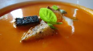 Как приготовить томатный суп со сливками