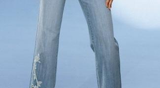 Как украсить стразами джинсу