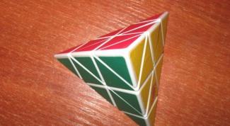 Как собрать кубик Рубика в виде пирамиды