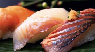 Как резать рыбу для суши