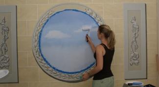 Как нарисовать облака на стене