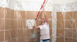 Как отодрать потолок