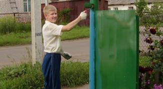 Как покрасить ворота