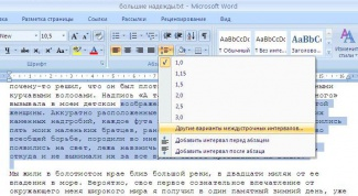 How to change line spacing in word