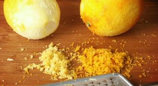 Как сделать цедру лимона