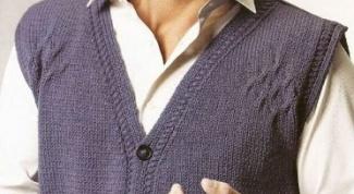 Как вязать мужскую жилетку