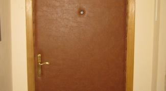 Как обтянуть дверь