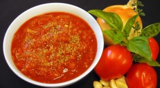 Как приготовить соус из помидоров