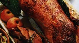 Как приготовить новогоднего гуся