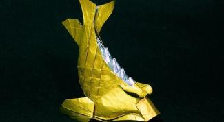 Как сделать рыбку оригами