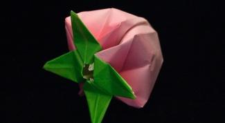 Как складывать цветок оригами