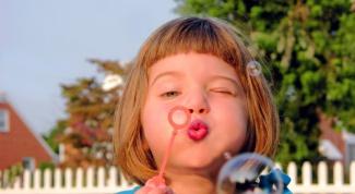 Как пускать мыльные пузыри