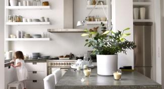 Как повесить кухонные полки