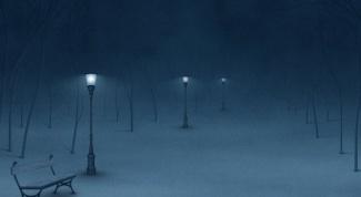 Как описать зимний вечер