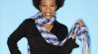 Как связать женский шарф