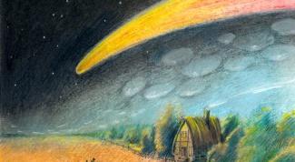 Как нарисовать комету