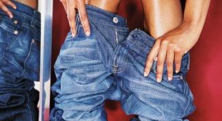 Как удалить жирное пятно с джинсов