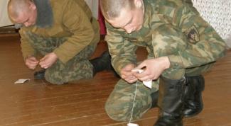 Как подшивать военную форму