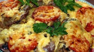 Как запечь картофель с грибами