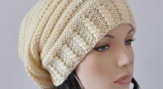 Как связать шапку английской резинкой