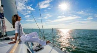 Как снять яхту