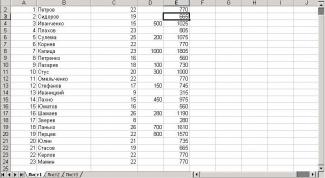 Как вычислять формулы в Excel