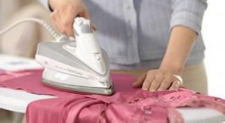 Как отгладить платье