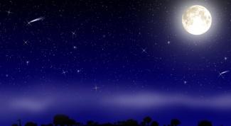 Как нарисовать ночное небо
