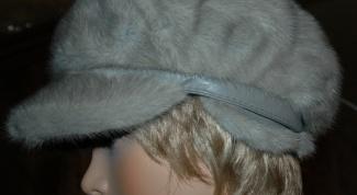 Как почистить шапку из голубой норки