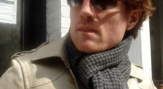 Как надеть мужской шарф