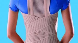 How to wear an orthopedic corset