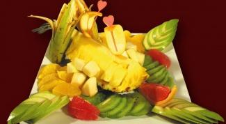 Как оформить фрукты на столе