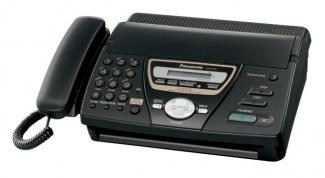 Как настроить факс Panasonic